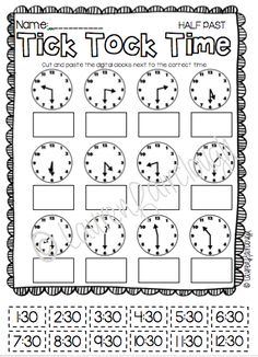 Telling time mega pack for first and second grade.  Full of maths games, centres and worksheets!