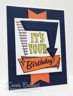 Marquee Messages, Stampin' Up!, birthday, created by Connie Babbert, www.inkspiredtreasures.com