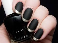 Bilderesultat for black polish with gold tape