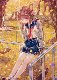 e-shuushuu kawaii and moe anime image board Anime Girl Crying, Anime School Girl, Cool Anime Girl, Pretty Anime Girl, Kawaii Anime Girl, Anime Art Girl, Anime Girls, Chica Anime Manga, Anime Neko