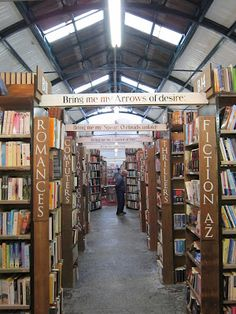 Alnwick, England: Barter Books - bookshop in a converted railway station