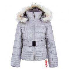 Silver Belted Ski Jacket