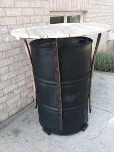 firemans values pub man cave drum table 32 barrels and buckets and other containers drum. Black Bedroom Furniture Sets. Home Design Ideas
