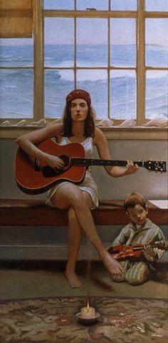Art Of Music - Bo Bartlett (1955, American)