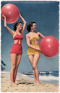 1950s | Repinned by Temple Towels & Swim, www.templetowels.com