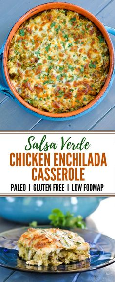 easy and tasty chicken enchilada casserole comes together in minutes, feeds. This easy and tasty chicken enchilada casserole comes together in minutes, feeds. This easy and tasty chicken enchilada casserole comes together in minutes, feeds. Fodmap Recipes, Paleo Recipes, Paleo Food, Fodmap Foods, Low Fodmap Chicken Recipe, Cooking Recipes, Soup Recipes, Yummy Food, Paleo Breakfast