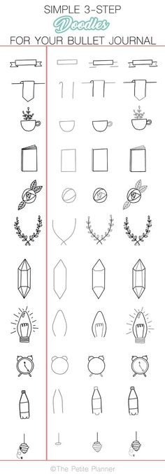 Doodle in just three steps! More easy-to-learn doodle designs in this post!
