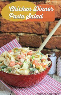Chicken Pasta Salad Recipe #pastasalad #easyrecipe #easydinner #pasta