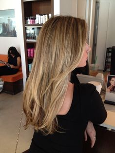Me and my client Katie opted for a Gisele inspired natural toned blonde (Wheat, honey blonde) versus a bleached out look. Achieving this color without the use of bleach is very important to get a m...