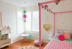 Blog F de Fifi: manualidades, imprimibles y decoración: Decoración: las habitaciones coloridas de Pénélope e Ivy