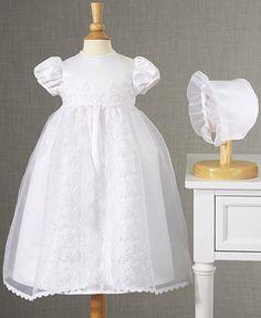 Rain Kids White Puff Sleeve Sequin Pearl Baptism Dress Girls 6M-4T