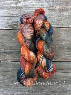 Hand Painted Yarn, Hand Dyed Yarn, Fingering Weight Yarn, Hand Painted Wool, MCN, Sock yarn