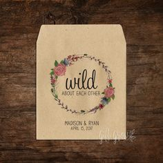 Floral Rose Wreath Wedding Seed Packets Woodland Wedding, Rustic Wedding, Seed Packets, Wedding Favours, Seeds, Wreaths, Rose, Floral, Pink