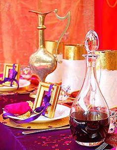 theme table decorating ideas | Arabian Nights Themed Party Table Decorating Ideas