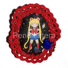 Broche de tela Bunny doll (Sailor Moon) : http://pendientera.com/ | pendientera