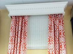 Image result for wood cornice valance Wood Valances For Windows, Wood Cornice, Curtains, Lace, Long Sleeve, Home Decor, Blinds, Decoration Home, Long Dress Patterns