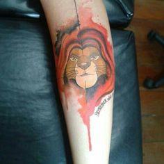 Lion tattoo Mufasa Simba
