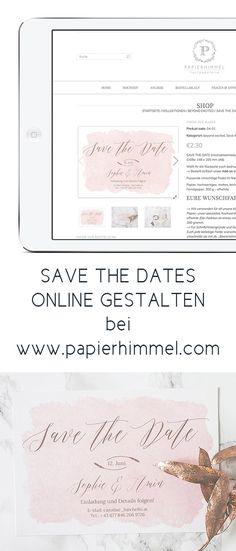 #Save the Date von www.papierhimmel.com  #hochzeit #hochzeitseinladungen #wedding #wedding invitations #hochzeitskarten #hochzeitspapeterie #savethedate #karten #einladungen #modern #elegant #watercolour #romantisch #rosa