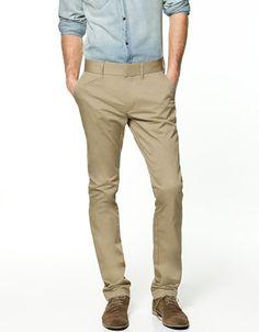 SLIM COMFORT CHINOS - Trousers - Man - ZARA United States