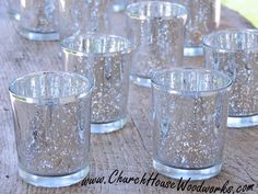 48 Silver Mercury Glass Votive Holders - Candle Holders for Weddings - Glass Votive Candle Holders - Wedding Decorations