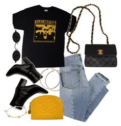 """""""Sin título #847"""" by above3600 ❤ liked on Polyvore featuring Mix Nouveau, TAXI, Chanel, PopsOfYellow and NYFWYellow"""
