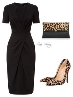 """Untitled #133"" by sara-elizabeth-feesey on Polyvore featuring Jaeger, Christian Louboutin and Diane Von Furstenberg"