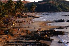 Anjuna Beach is where many of the trance parties take place and also the location of the Wednesday market