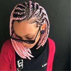 New Short Bob Braids Hairstyles and Haircuts for Women 2020 Bob Box Braids Hairstyles Of 98 Inspirational New Short Bob Braids Hairstyles and Haircuts for Women 2020 Black Girl Braids, Braids For Black Hair, Girls Braids, Cornrows Braids For Black Women, Bob Braids, Short Braids, Dookie Braids, Side Braids, Ghana Braids
