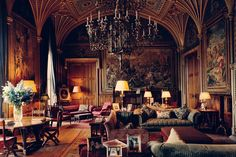 THE DRAWING ROOM at Eastnor Castle near Wales, which brings in nearly $5 million each...
