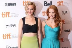 Jess Weixler and Jessica Chastain at The Disappearance Of Eleanor Rigby: Him And Her #tiff13