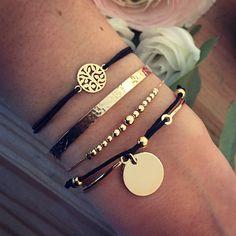 PLAQUÉ OR Plaque, Or Rose, Bracelets, Leather, Gold, Jewelry, Fashion, Bangle Bracelets, Gold Plating
