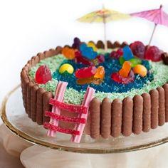 Australian Womens Weekly Swimming Pool Cake The Hungry Mum Oven - Womens weekly childrens birthday cake cookbook