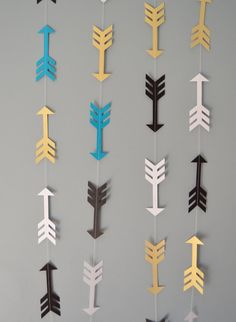 Customize your colors at no extra charge! This fun arrow garland is perfect for a tribal theme birthday party, a wild bachelorette party, baby