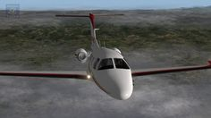 Full instrumental NDB flight with jets Eclipse 550