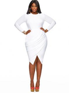 plus size white dress - kapres molene