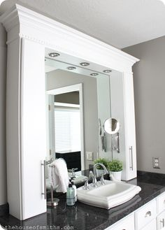 Small Master Bathroom Remodel with Stylish, Affordable Countertop Storage! #thehouseofsmiths #bathroom #sink #decor