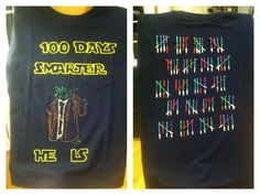 100 day of school shirt I made for Levi.