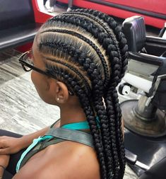 125 Popular Feed in Braid Hairstyles [with Tutorial] Feed In Braids Hairstyles, Braided Hairstyles For Black Women, Braids For Black Hair, Afro Hairstyles, French Braid Hairstyles, African Hairstyles, Feed Braids, Trending Hairstyles, Black Hairstyles