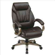 Work Smart ECH30621-EC1 Executive Eco Leather Chair with Padded Arms and Coated Base - http://www.furniturendecor.com/work-smart-ech30621-ec1-executive-eco-leather-chair-with-padded-arms-and-coated-base/