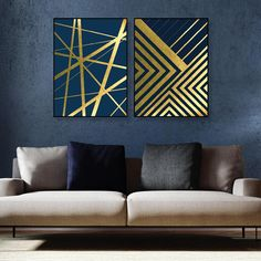 Druckbare herunterladbare geometrische Drucke Metallic Navy Gold Dunkelblau Kunst Set Poster Wandkunst Home Decor Digital Images Artwork - Druckbare herunterladbare geometrische Drucke Metallic Navy - Art Deco Wall Art, Tree Wall Art, Metal Wall Art Decor, Diy Wall Art, Canvas Wall Art, Metal Art, Painters Tape Art, Geometric Prints, Geometric Artwork