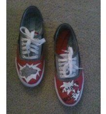 My Hand Painted Shoes...for my daughter's pep squad