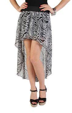 #zebra print #chiffon high low #skirt $18.50