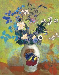 stilllifequickheart: Odilon Redon Japanese Vase 1905