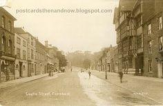 Postcards Then and Now: Farnham, Surrey, Castle Street Farnham Surrey, Places Of Interest, Castle, England, Street View, Postcards, Image, Castles, English