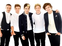One Direction, (from left) Liam Payne, Louis Tomlinson, Zayn Malik, Niall Horan and Harry Styles
