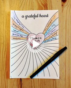 A Gratitude Journal Printable is a fun way to log of all the things you are grateful for. This Bullet Journal printable depicts a heart that emanates all that you are grateful for. Insert into your journal binder. Bullet Journal Inspo, How To Bullet Journal, Bullet Journal Printables, Bullet Journal Notebook, Bullet Journal Aesthetic, Bullet Journal Spread, Bullet Journal Ideas Pages, Journal Log, Bullet Journal Goals Layout