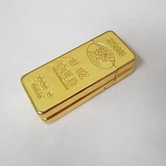 Amazon.com : Portable Luxury Gold Bar Design Shaped Butane Flame Gas Cigarette Lighter - One item : Sports & Outdoors