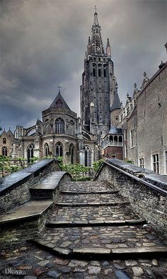 Amazing Places — Church of our Lady - Bruges - Belgium (von dleiva) Places Around The World, The Places Youll Go, Travel Around The World, Around The Worlds, Oh The Places You'll Go, Wonderful Places, Beautiful Places, Amazing Places, Church Of Our Lady