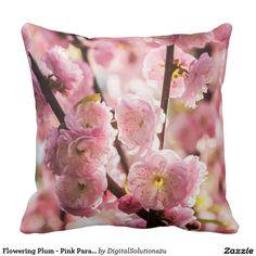 Flowering Plum - Pink Paradize Throw Pillow