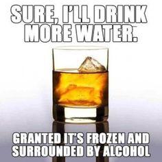 Sure ill drink more water - meme - http://jokideo.com/